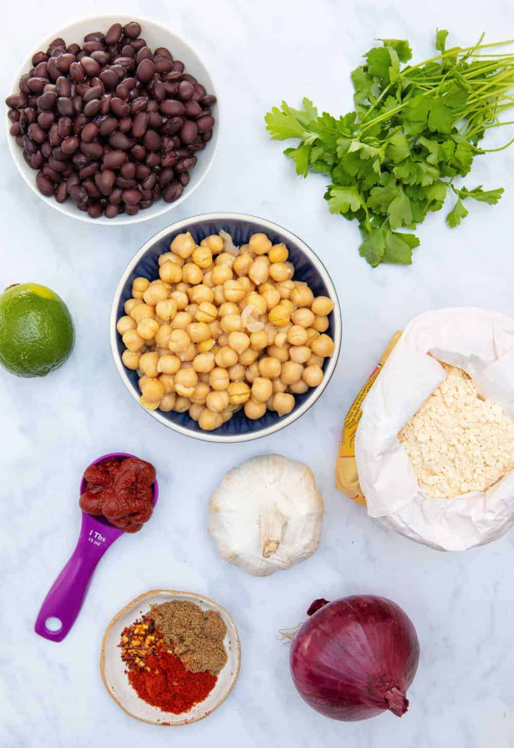 Gluten Free Falafels - ingredients