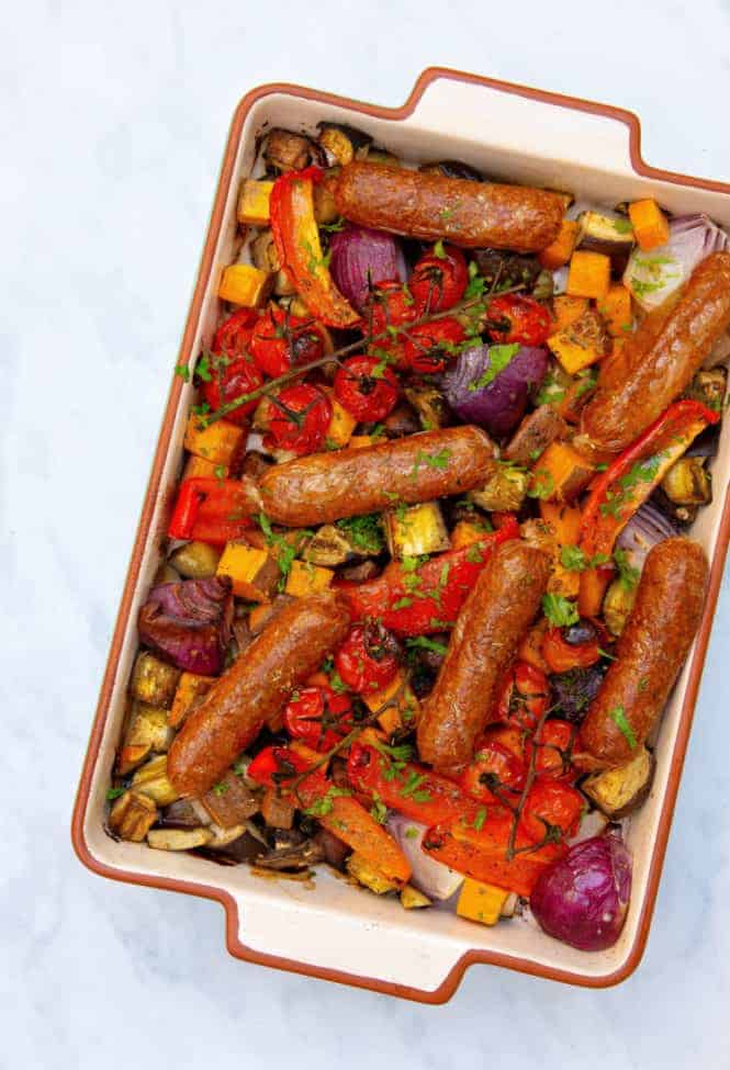 Vegan Sausage Tray Bake - Top 2
