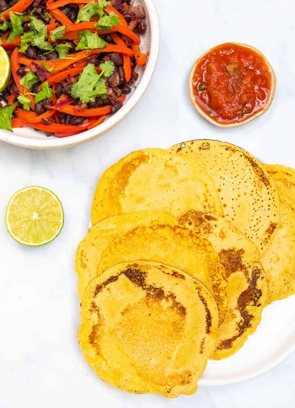 Gluten Free Tortillas - Top