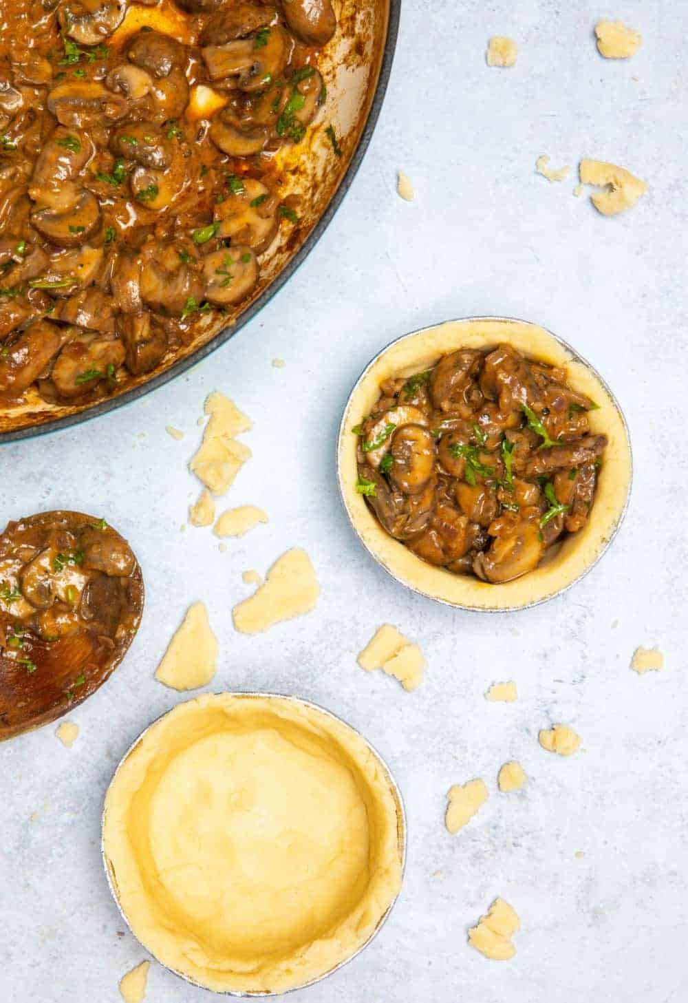 Mushroom Stroganoff Pie - Filling