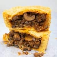 Mushroom Stroganoff Pie - cut open