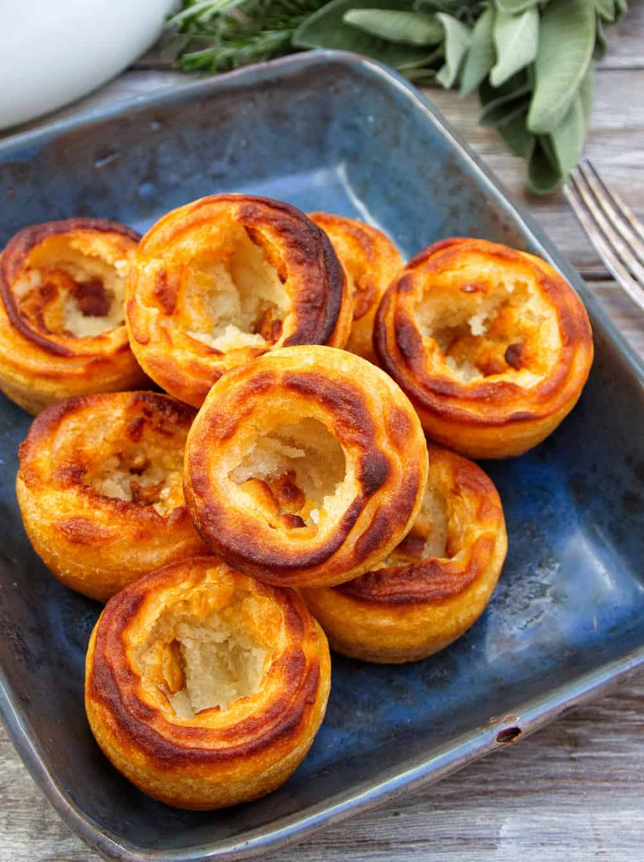 Gluten Free & Vegan Yorkshire Puddings - Closeup Top