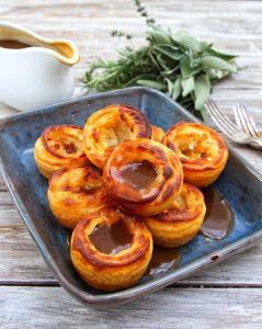 Gluten Free & Vegan Yorkshire Puddings - Gravy filled