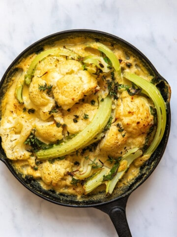 Best Vegan Cauliflower Cheese - Top