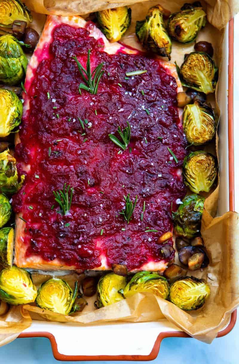 Cranberry Sauce Baked Salmon - Baked