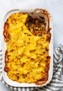 Parsnip Mash Lentil Pie - no plate serve