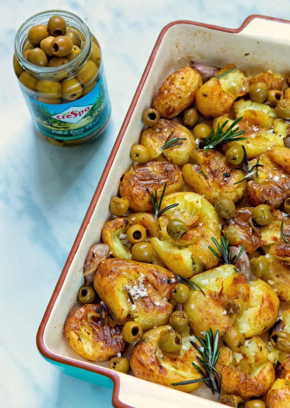 Smashed Olive Potatoes - Crespo Jar Front