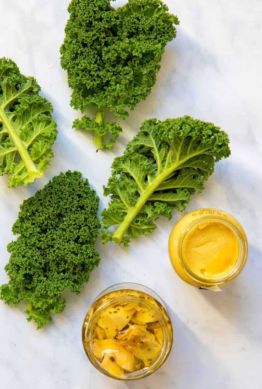 Kale with Artichoke & Mustard- Ingredients