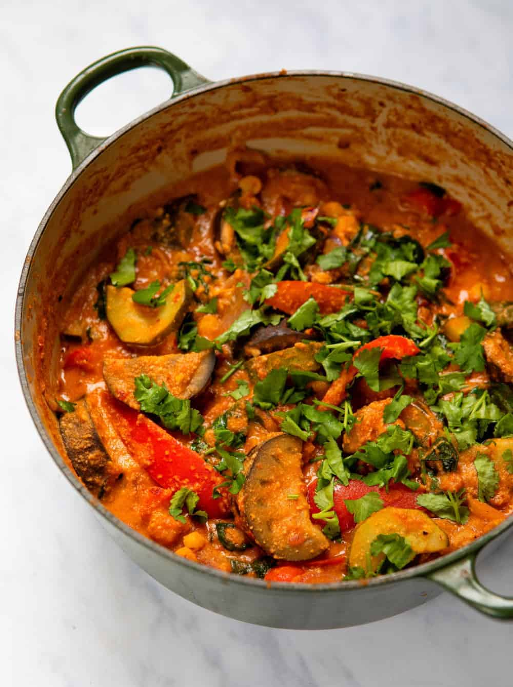 15 Minute Veg Curry - Pot Front