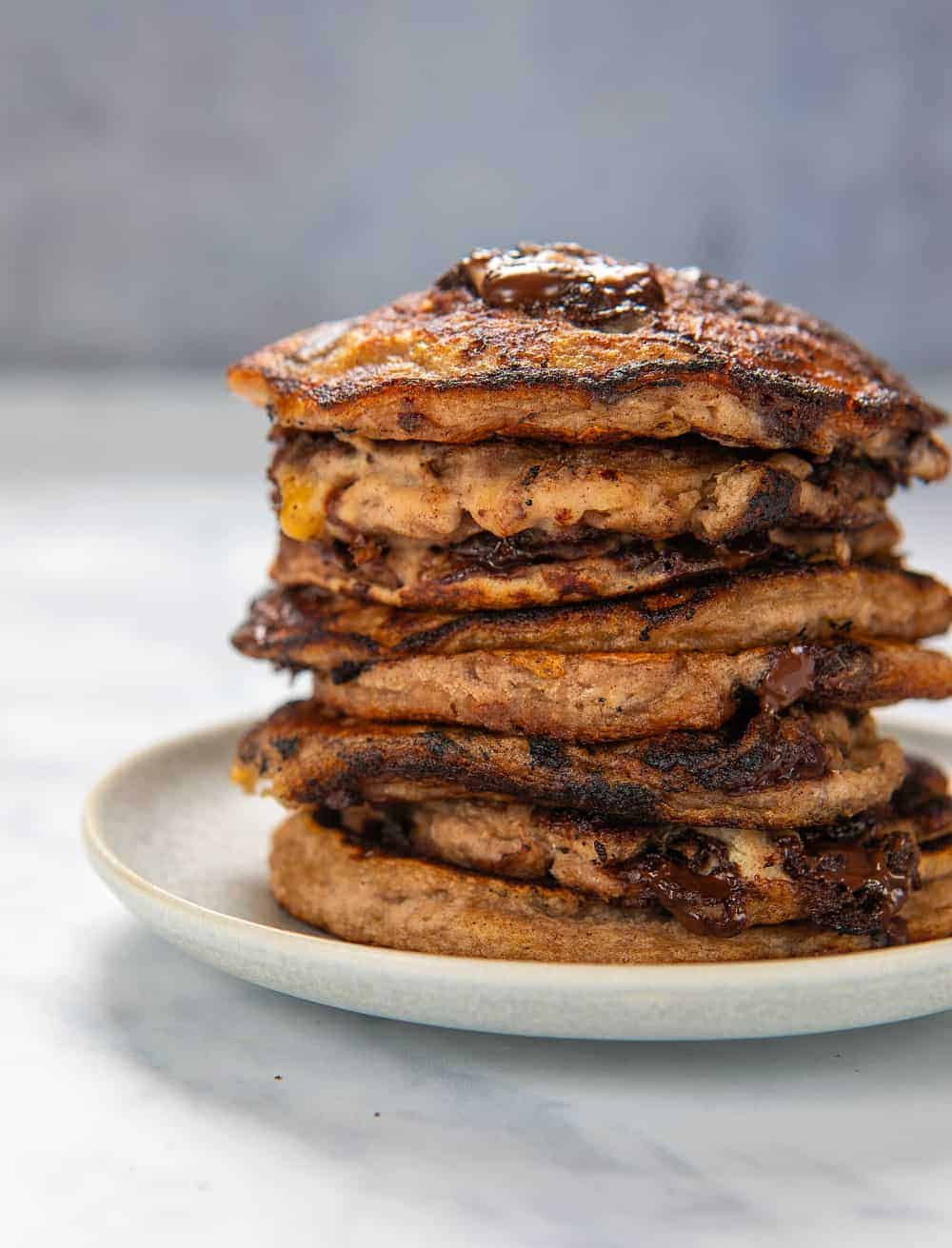 Banana Bread Pancakes - no maple