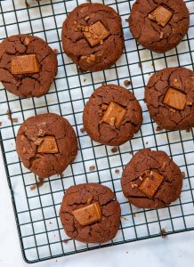 Chunky Chocolate Chip Cookies - Top