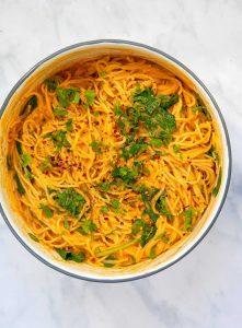 Creamy Pepper Pasta - Pot top