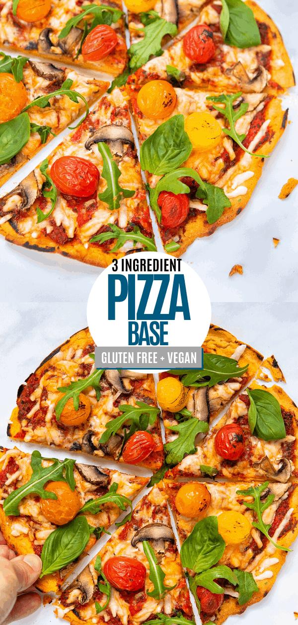 Easy Gluten-Free Vegan Pizza Base Pin