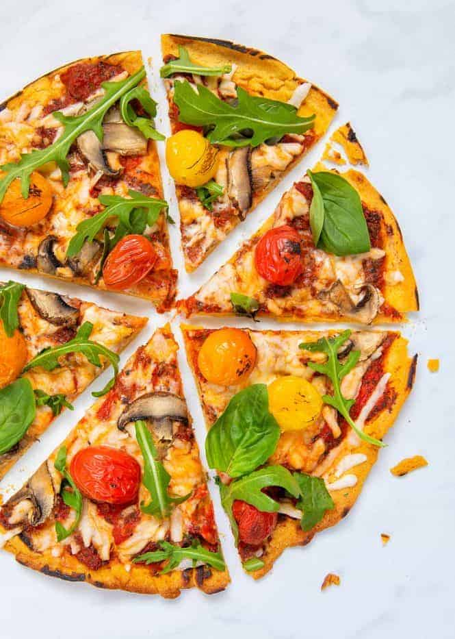 Gluten-Free Vegan Pizza Base - Close