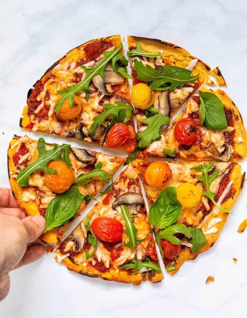 Gluten-Free Vegan Pizza Base - Hand