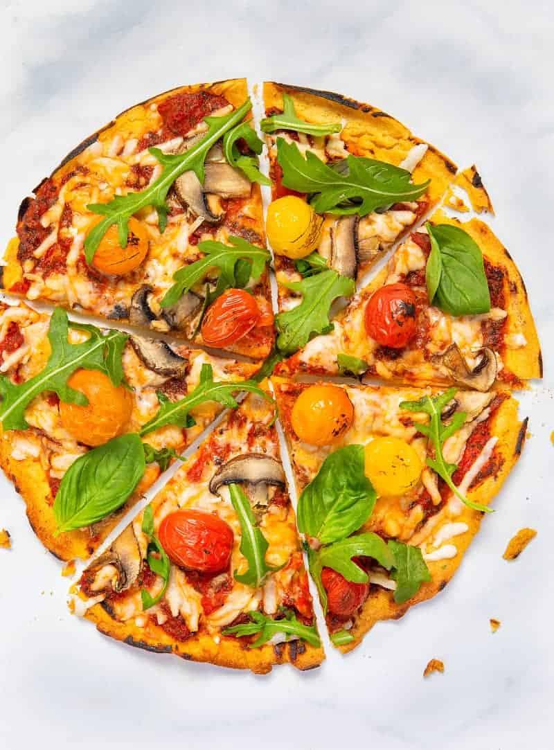 Gluten-Free Vegan Pizza Base - Top