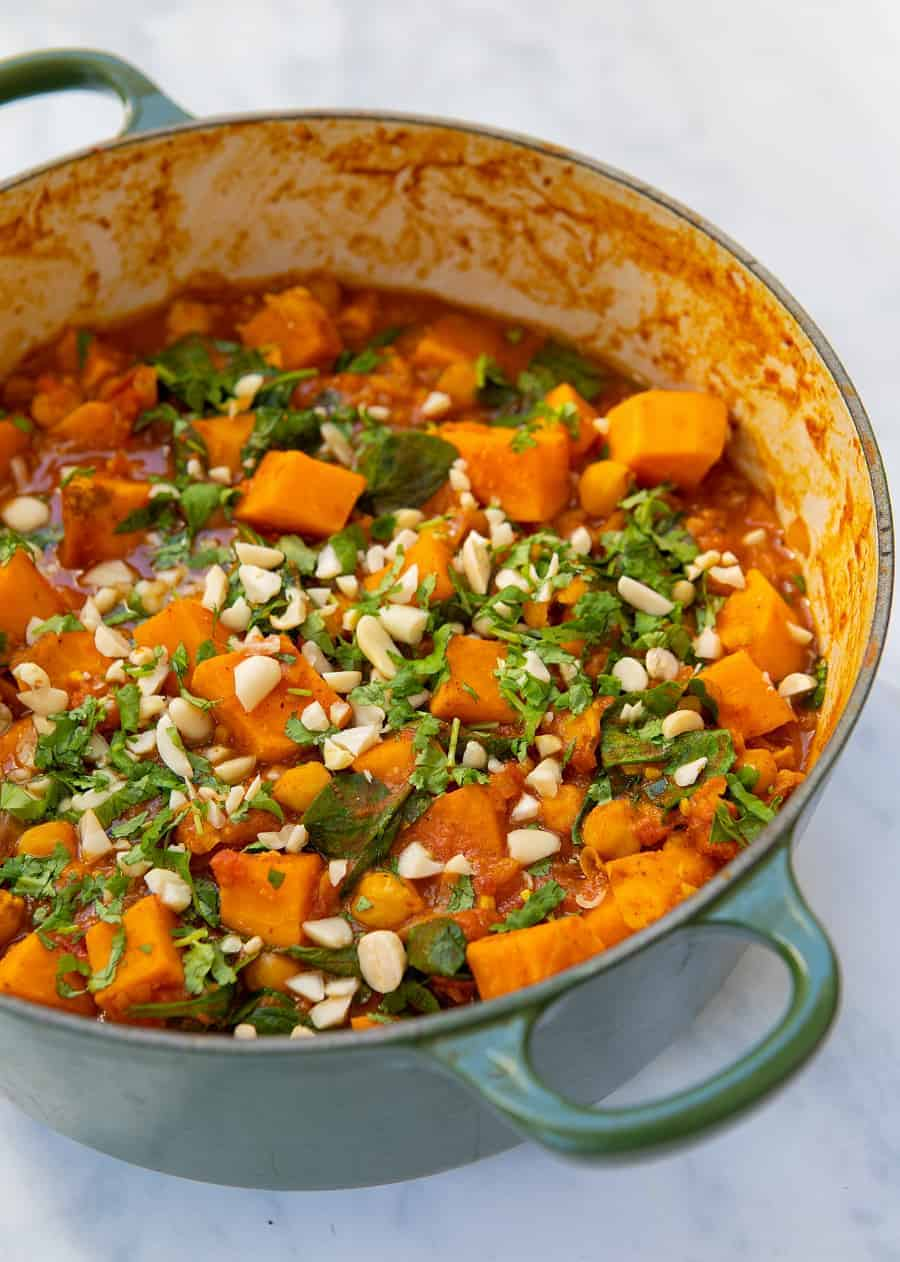 Peanut Sweet Potato Stew - pot front