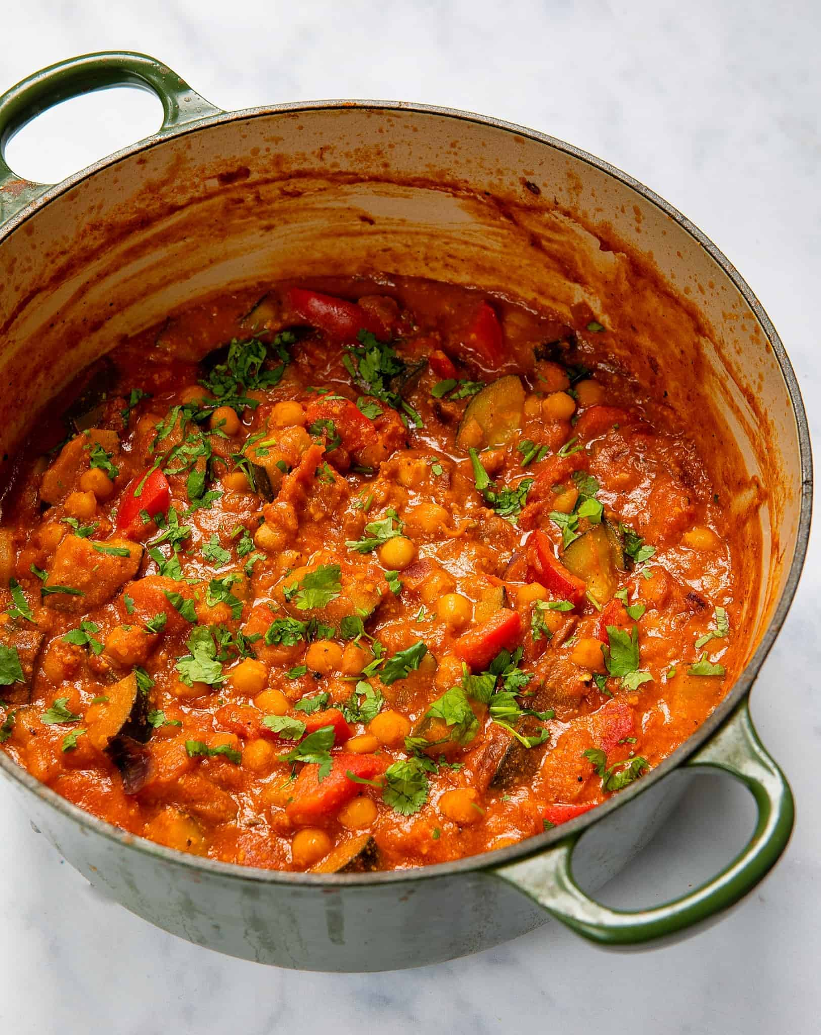 Apricot & Chickpea Tagine - Pot front