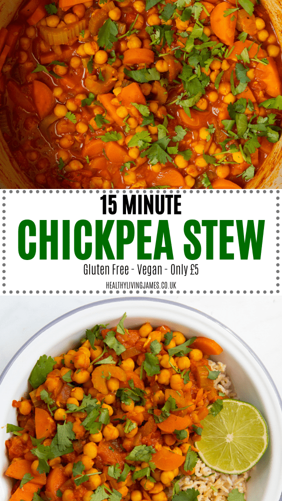 15 Minute Chickpea Stew Pin