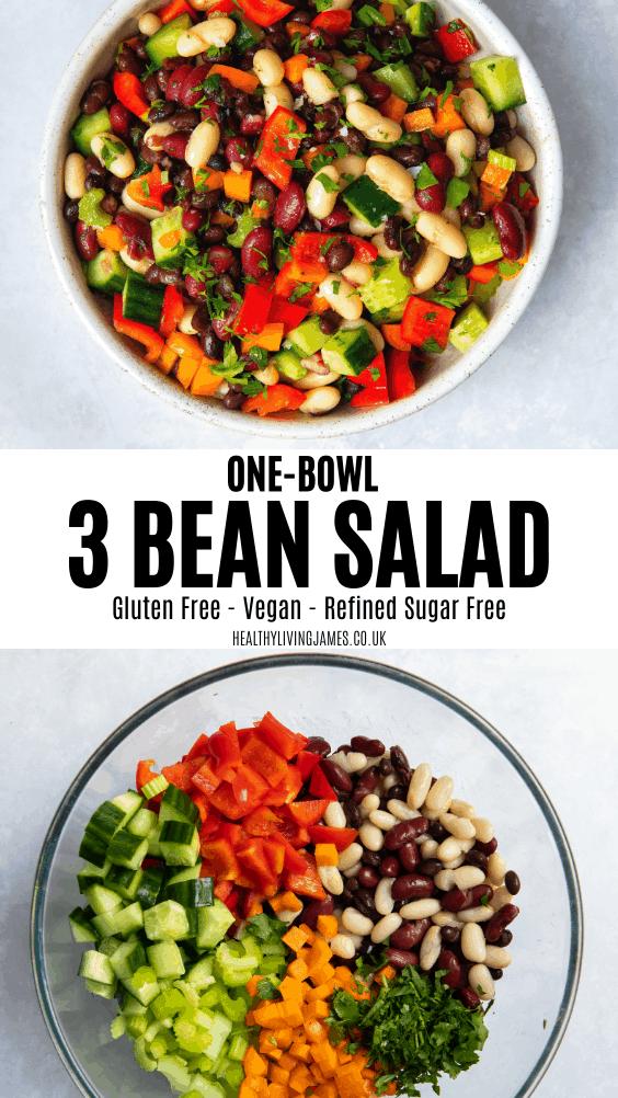 One-Bowl 3 Bean Salad Pin
