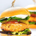 BBQ Salmon Burger Pin