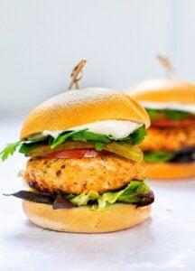 BBQ Salmon Burger