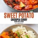 Sweet Potato Chickpea Curry Pinterest
