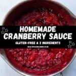 Homemade Cranberry Sauce pinterest image