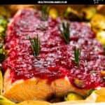 CranberrySauce Baked Salmon pinterest image
